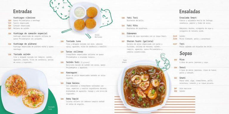 Smart Sushi Menu Precios
